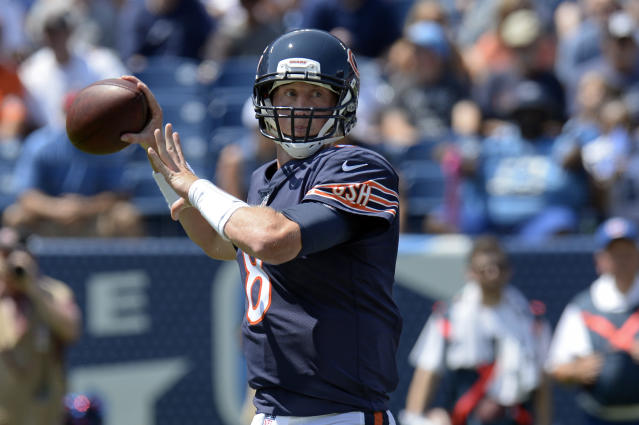 Mike Glennon played well for the Bears in their third preseason game on Sunday. (AP)