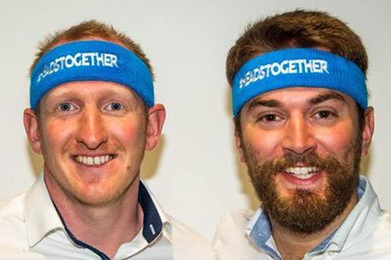 Heads together: Neil Leybourn and Jonny Benjamin tackled the marathon side by side: Jonny Benjamin/Twitter