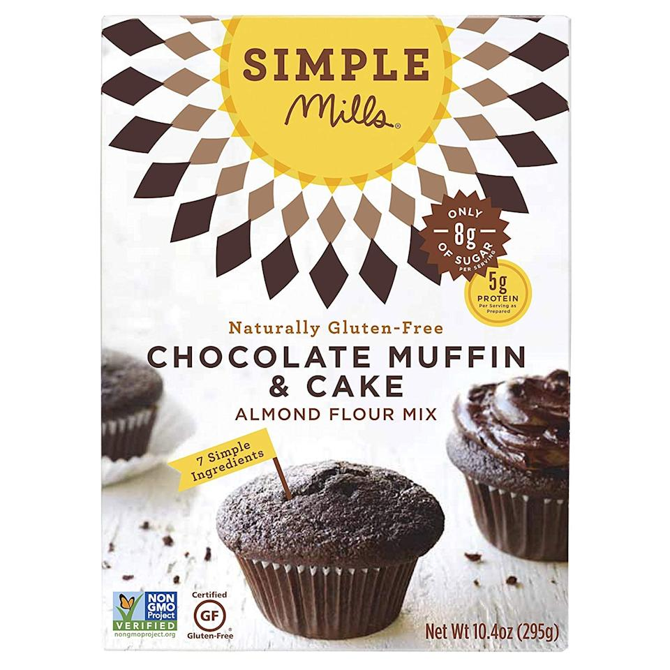 "<p>Go ahead and indulge in this <a href=""https://www.popsugar.com/buy/Simple-Mills-Almond-Flour-Chocolate-Muffin-amp-Cake-Mix-460710?p_name=Simple%20Mills%20Almond%20Flour%20Chocolate%20Muffin%20%26amp%3B%20Cake%20Mix&retailer=amazon.com&pid=460710&price=7&evar1=fit%3Aus&evar9=46285295&evar98=https%3A%2F%2Fwww.popsugar.com%2Ffitness%2Fphoto-gallery%2F46285295%2Fimage%2F46285301%2FSimple-Mills-Almond-Flour-Chocolate-Muffin-Cake-Mix&list1=shopping%2Camazon%2Cdessert%2Clow%20calorie%2Chealthy%20desserts&prop13=mobile&pdata=1"" rel=""nofollow"" data-shoppable-link=""1"" target=""_blank"" class=""ga-track"" data-ga-category=""Related"" data-ga-label=""https://www.amazon.com/Simple-Mills-Almond-Chocolate-Naturally/dp/B00OR4GPW2/ref=sr_1_184?crid=3JUX49JY3SWJU&amp;keywords=healthy%2Bdesserts%2Bsnacks&amp;qid=1560886685&amp;s=gateway&amp;sprefix=healthy%2Bdesserts%2Caps%2C124&amp;sr=8-184&amp;th=1"" data-ga-action=""In-Line Links"">Simple Mills Almond Flour Chocolate Muffin &amp; Cake Mix</a> ($7) at only 110 calories per serving.</p>"