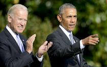 """<ul> <li><strong>As former vice president, <a href=""""http://www.cnn.com/2020/11/12/politics/obama-memoir-promised-land/index.html"""" class=""""link rapid-noclick-resp"""" rel=""""nofollow noopener"""" target=""""_blank"""" data-ylk=""""slk:Joe Biden would have been &quot;more than ready"""">Joe Biden would have been """"more than ready</a> to serve as president"""" if something had happened to him.</strong> """"It might reassure those who still worried I was too young . . . What mattered most, though, was what my gut told me - that Joe was decent, honest, and loyal. I believed that he cared about ordinary people, and that when things got tough, I could trust him. I wouldn't be disappointed.""""</li> <li><strong>Unlike Trump, who is making Biden's presidency transition difficult, former President George W. Bush welcomed Obama. """"</strong>Whether because of his respect for the institution, lessons from his father, bad memories of his own transition . . . or just basic decency, President Bush would end up doing all he could to make the 11 weeks between my election and his departure go smoothly,"""" Obama wrote, adding that his daughters, Barbara and Jenna, """"rearranged their schedules to give Malia and Sasha their own tour.""""<strong> """"</strong>I promised myself that when the time came, I would treat my successor the same way.""""</li> </ul>"""