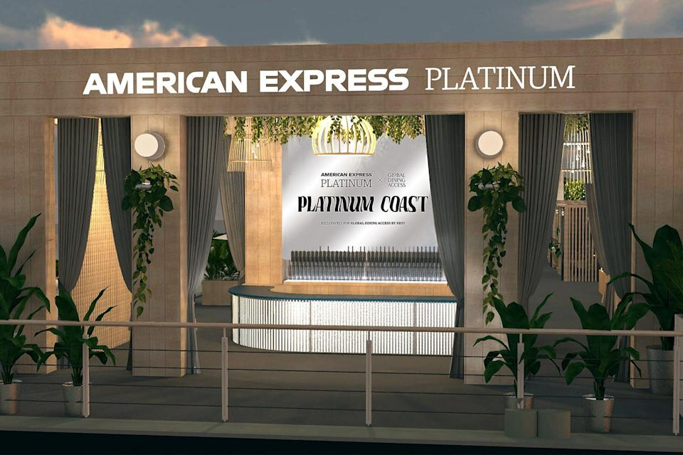 The entry to the American Express Platinum Coast