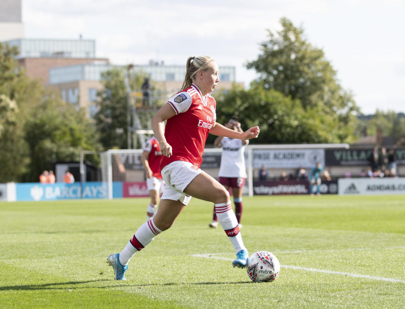 Beth Mead scored a hat-trick for Arsenal