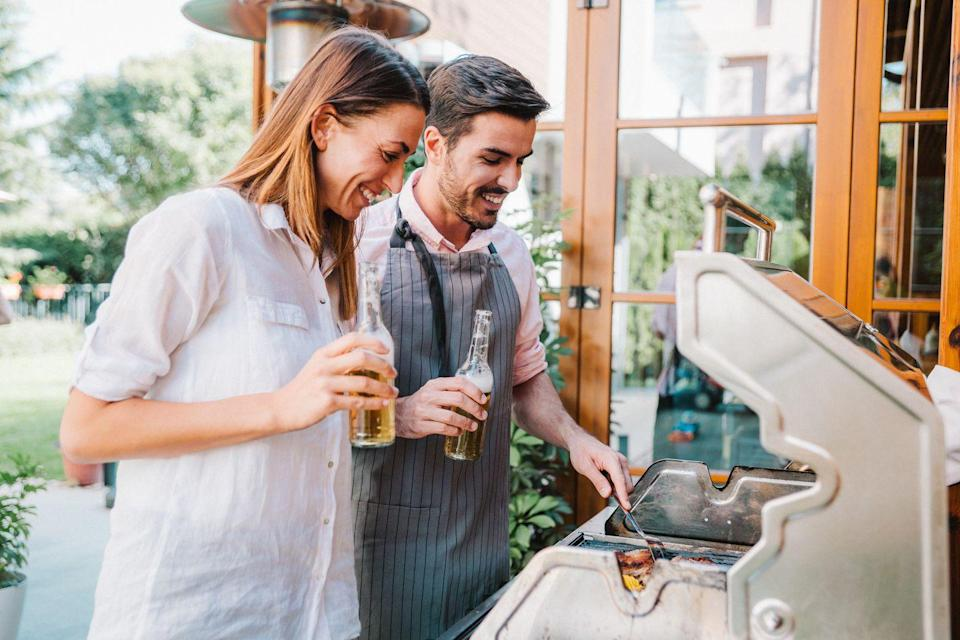 """<p>If it's a nice night, grab some beers (or <a href=""""https://www.menshealth.com/trending-news/g33338301/best-hard-seltzers/"""" rel=""""nofollow noopener"""" target=""""_blank"""" data-ylk=""""slk:spiked seltzers"""" class=""""link rapid-noclick-resp"""">spiked seltzers</a>, or <a href=""""https://www.menshealth.com/trending-news/g33658511/best-canned-cocktails/"""" rel=""""nofollow noopener"""" target=""""_blank"""" data-ylk=""""slk:canned cocktails"""" class=""""link rapid-noclick-resp"""">canned cocktails</a>) and cook dinner on the barbecue.</p>"""