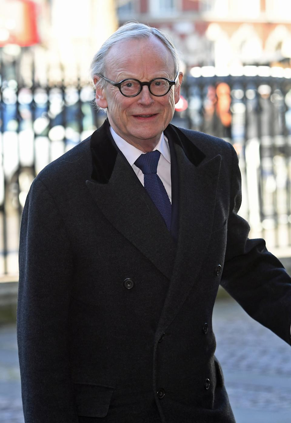 John Selwyn Gummer, Baron Deben at a service of thanksgiving for the life and work of former foreign secretary Lord Carrington at Westminster Abbey in London. (Photo by Stefan Rousseau/PA Images via Getty Images)