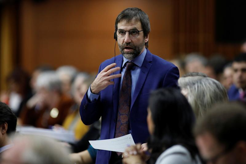 Heritage Minister Steven Guilbeault speaks during question period in the House of Commons on Parliament Hill in Ottawa on Dec. 9, 2019. (Photo: Blair Gable / Reuters)