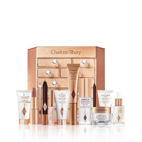 """<p><strong>Charlotte Tilbury</strong></p><p>charlottetilbury.com</p><p><strong>$200.00</strong></p><p><a href=""""https://go.redirectingat.com?id=74968X1596630&url=https%3A%2F%2Fwww.charlottetilbury.com%2Fus%2Fproduct%2Fbeauty-advent-calendar-2020&sref=https%3A%2F%2Fwww.harpersbazaar.com%2Fbeauty%2Fg33667621%2Fbest-beauty-advent-calendars%2F"""" rel=""""nofollow noopener"""" target=""""_blank"""" data-ylk=""""slk:Shop Now"""" class=""""link rapid-noclick-resp"""">Shop Now</a></p><p>Never able to choose between Charlotte Tilbury's makeup and skincare? According to the brand's 2020 calendar, you certainly don't have to. And before you can ask: Yes, a Matte Revolution Lipstick in the Pillow Talk Original shade <em>is </em>included. </p>"""
