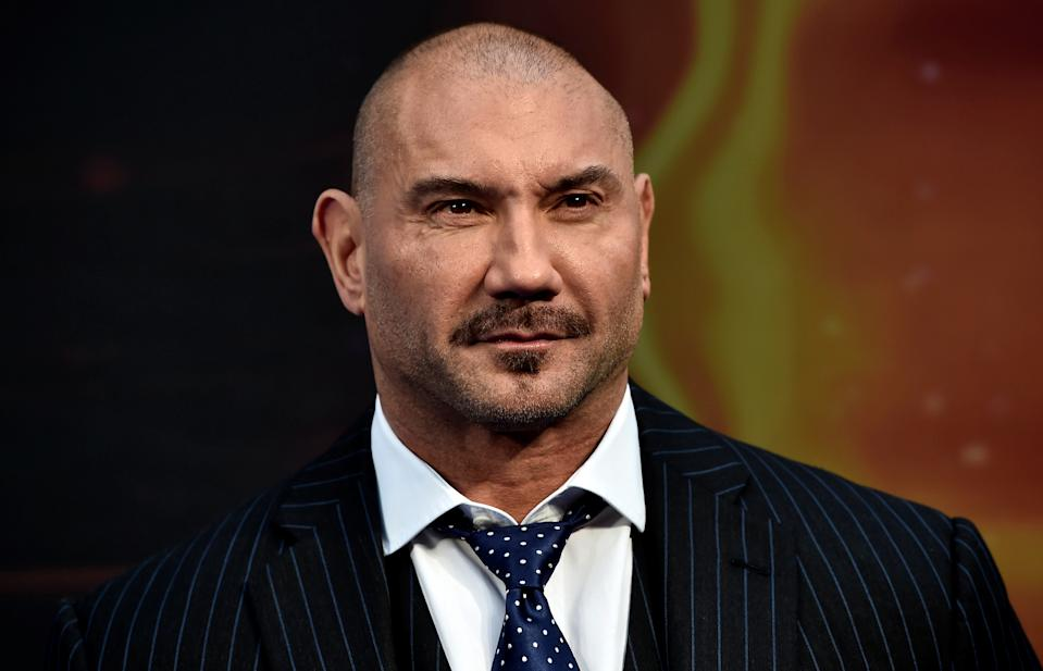"Actor Dave Bautista attends a premiere of the film ""Guardians of the galaxy, Vol. 2"" in London April 24, 2017. REUTERS/Hannah McKay"