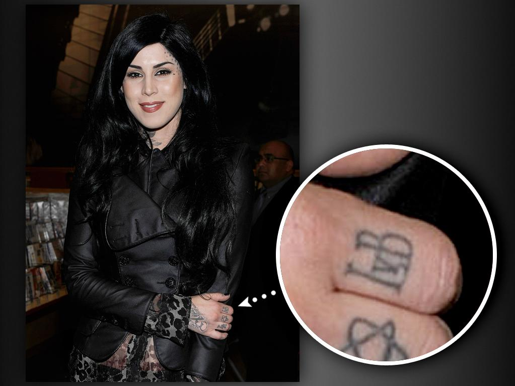 "Even greater than Kat's love for the band Motley Crue is her love for Ludwig van Beethoven. She has a large tattoo of the composer's face across her thigh and his initials, ""LvB,"" on one of her fingers. Her obsession for Beethoven stems from playing classical piano since the age of 7."