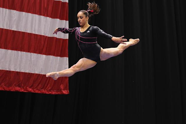 ST. LOUIS, MO - JUNE 8: Jordyn Wieber competes on the balance beam during the Senior Women's competition on day two of the Visa Championships at Chaifetz Arena on June 8, 2012 in St. Louis, Missouri. (Photo by Dilip Vishwanat/Getty Images)