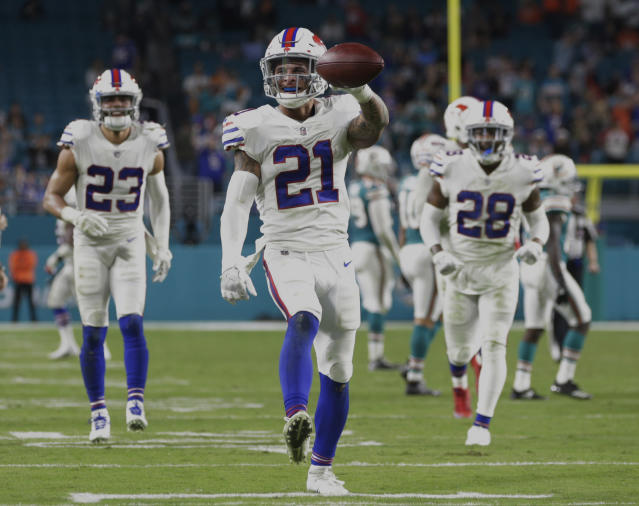 Playoff swag: the Buffalo Bills are part of the NFL postseason for the first time since 1999. (AP)