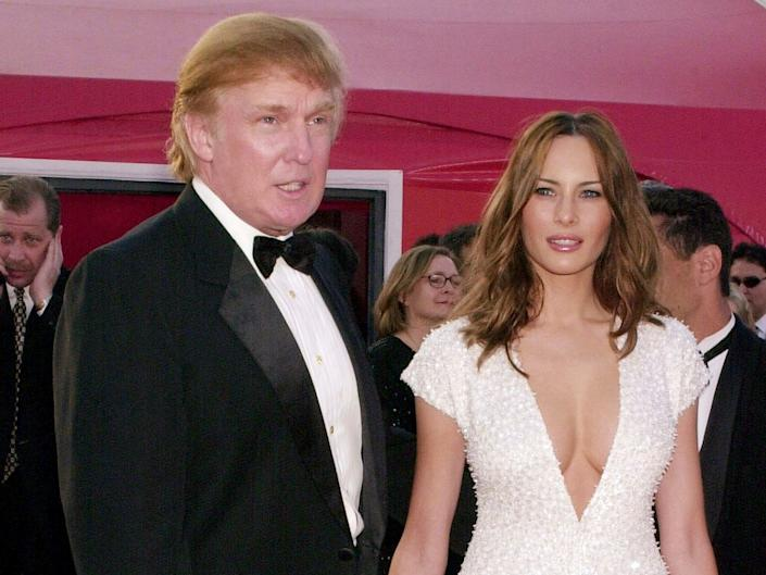 Real estate magnate Donald Trump and model Melania Knauss