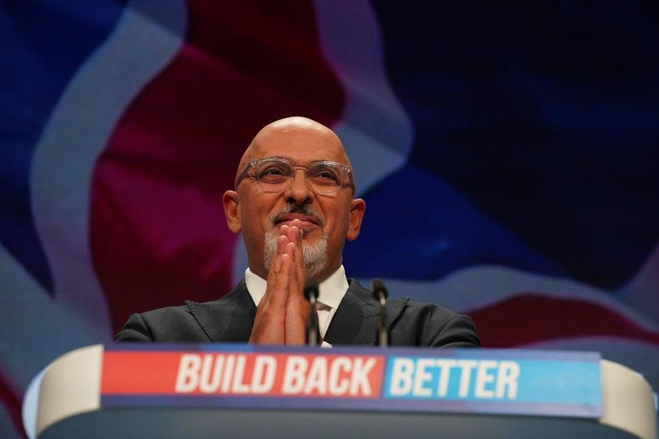 Education Secretary Nadhim Zahawi speaking during the Conservative Party conference in Manchester (Peter Byrne/PA) (PA Wire)
