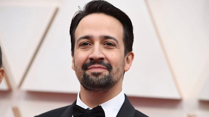 Mandatory Credit: Photo by Jordan Strauss/Invision/AP/Shutterstock (10552447rf)Lin-Manuel Miranda arrives at the Oscars, at the Dolby Theatre in Los Angeles92nd Academy Awards - Arrivals, Los Angeles, USA - 09 Feb 2020.