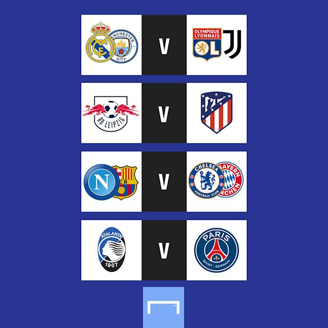 Champions League quarter-final draw gfx