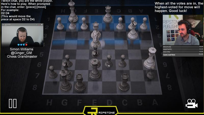 Twitch takes on Chess Grandmaster: 6,000 gamers beat chess champion on third try