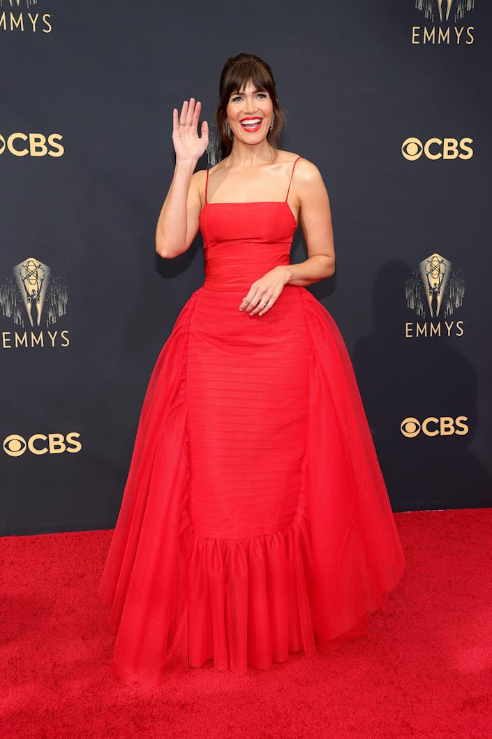 Mandy Moore Emmys red carpet 2021 (Rich Fury / Getty Images)