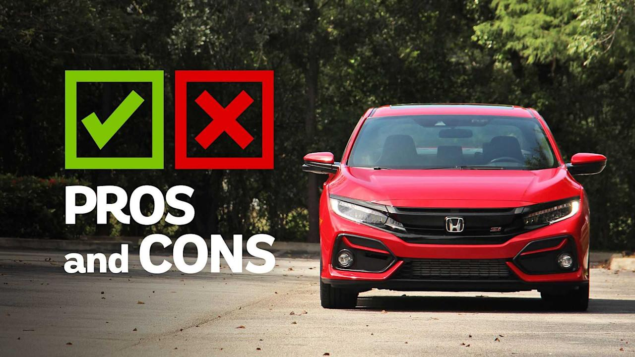 "<p>We like the <a href=""https://www.motor1.com/honda/civic-si/?utm_campaign=yahoo-feed"">Honda Civic Si</a> a lot. With 205 horsepower, a standard limited-slip differential, and <a href=""https://www.motor1.com/news/366315/2020-honda-civic-si-upgrades/?utm_campaign=yahoo-feed"">Honda Sensing safety technology all standard</a>, the Civic Si offers a lot of bang for the buck in the segment. And while we're certainly <a href=""https://www.motor1.com/news/434539/honda-fit-civic-coupe-killed/?utm_campaign=yahoo-feed"">going to miss the two-door Civic (RIP)</a>, at least the sedan and its standard six-speed transmission still around for now – and that version gets even better this year.</p> <p>We spent time in the 2020 Honda Civic Si Sedan with the optional HPT package, which adds new summer tires to the sporty four-door while only increasing the price tag by $200. But while we welcome the new rubber and still enjoy the Civic Si's laundry list of standard features, there are a few things keeping the Si from perfection.</p> <h2>Lessons In Civics:</h2><ul><li><a href=""https://www.motor1.com/reviews/426761/2020-honda-civic-hatchback-sport-touring-review/?utm_campaign=yahoo-feed"">2020 Honda Civic Hatchback Sport Touring Review: Happy Hatch</a></li><br><li><a href=""https://www.motor1.com/reviews/424532/2020-honda-civic-type-r-hatchback-first-drive/?utm_campaign=yahoo-feed"">2020 Honda Civic Type R First Drive Review: Second Helping</a></li><br></ul> <h3>Competitors:</h3> <ul> <li><strong><a href=""https://www.motor1.com/reviews/127264/2017-hyundai-elantra-sport-review/?utm_campaign=yahoo-feed"">Hyundai Elantra Sport</a></strong></li> <li><strong><a href=""https://www.motor1.com/news/274003/2020-kia-forte-gt/?utm_campaign=yahoo-feed"">Kia Forte GT</a></strong></li> <li><strong><a href=""https://www.motor1.com/reviews/369333/2019-subaru-wrx-seriesgray-pros-cons/?utm_campaign=yahoo-feed"">Subaru WRX</a></strong></li> <li><strong><a href=""https://www.motor1.com/reviews/316241/2019-volkswagen-jetta-gli-first-drive/?utm_campaign=yahoo-feed"">Volkswagen Jetta GLI</a></strong></li> </ul><br>   2020 Honda Civic Si Sedan HPT EngineTurbocharged 1.5-Liter I4 Output205 Horsepower/ 192 Pound-Feet Transmission6-Speed Manual Drive TypeFront-Wheel Drive Efficiency26 City / 36 Highway / 30 Combined Seating Capacity5 Cargo Volume14.7 Cubic Feet Base Price$25,400 As-Tested Price$26,130"