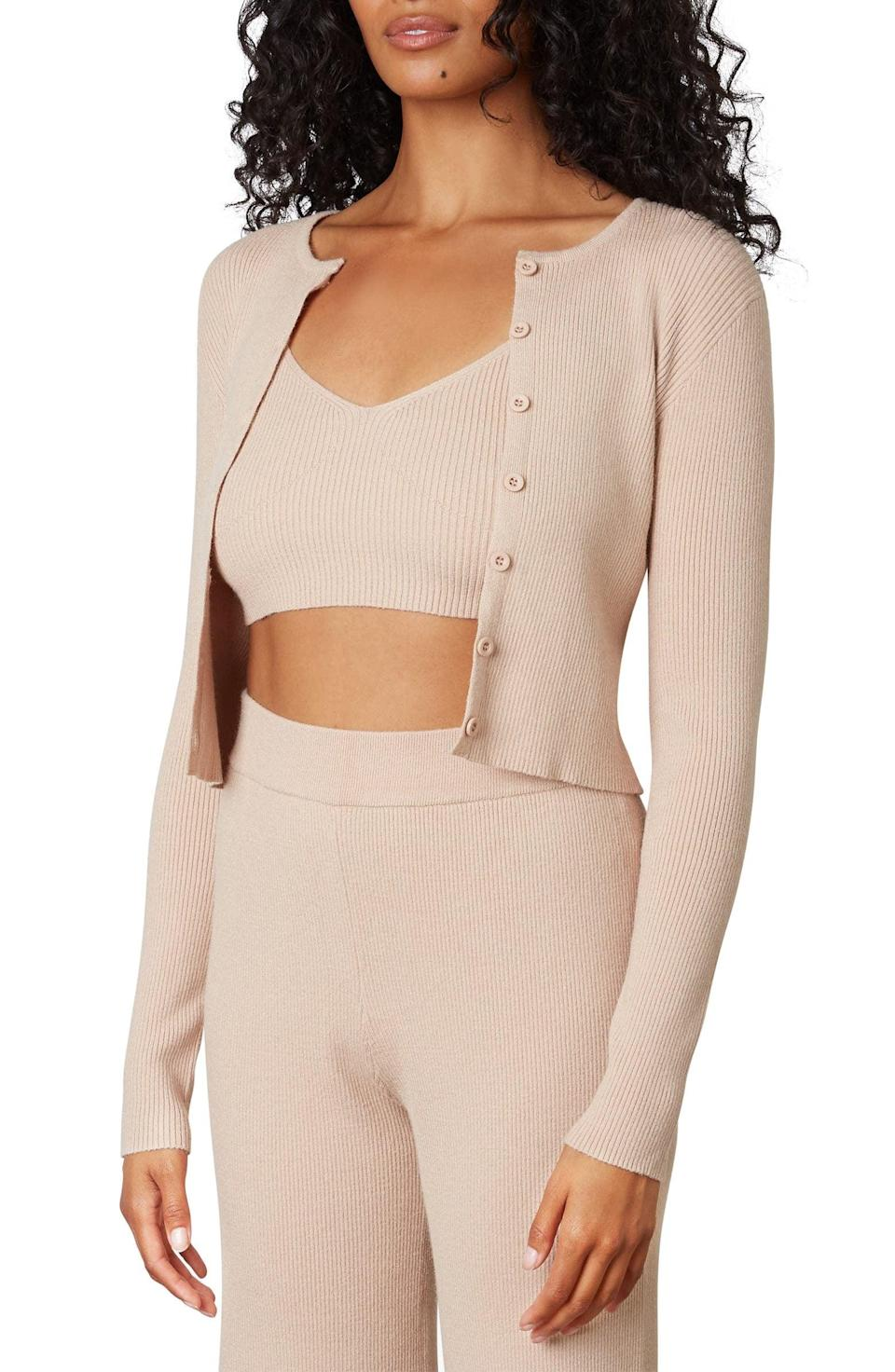 <p>We're very into the color of this <span>Nia Olivia Crop Tank &amp; Cardigan Twin Set</span> ($108). It looks great with white jeans or a cute skirt.</p>