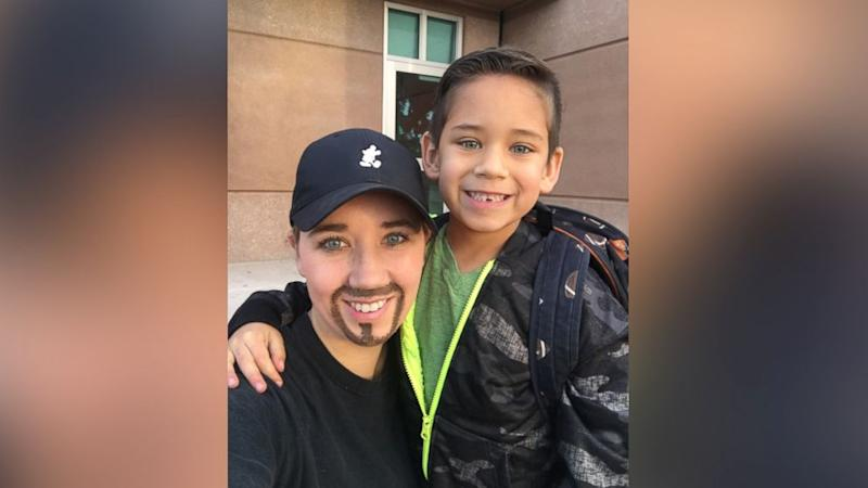 Single Mom Dresses as Dad for Son's 'Dads and Doughnuts Day' at School (ABC News)