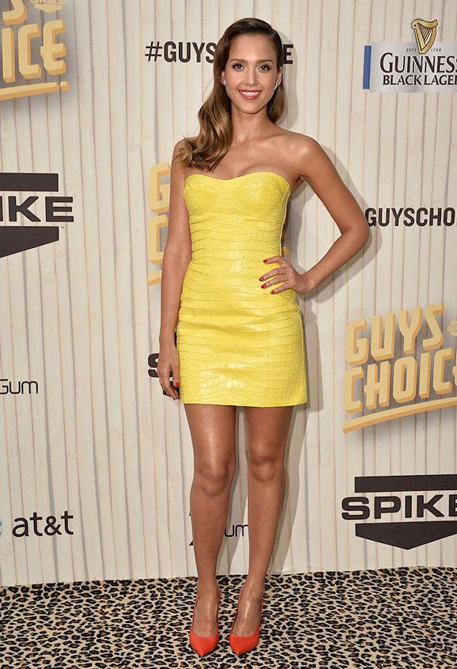 CULVER CITY, CA - JUNE 08:  Actress Jessica Alba attends Spike TV's Guys Choice 2013 at Sony Pictures Studios on June 8, 2013 in Culver City, California.  (Photo by Frazer Harrison/Getty Images for Spike TV)
