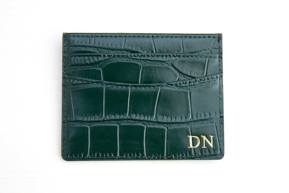 <p>We love the texture and luxe look of this <span>Monogram Croc Leather Double Card Holder</span> ($32, originally $41).</p>