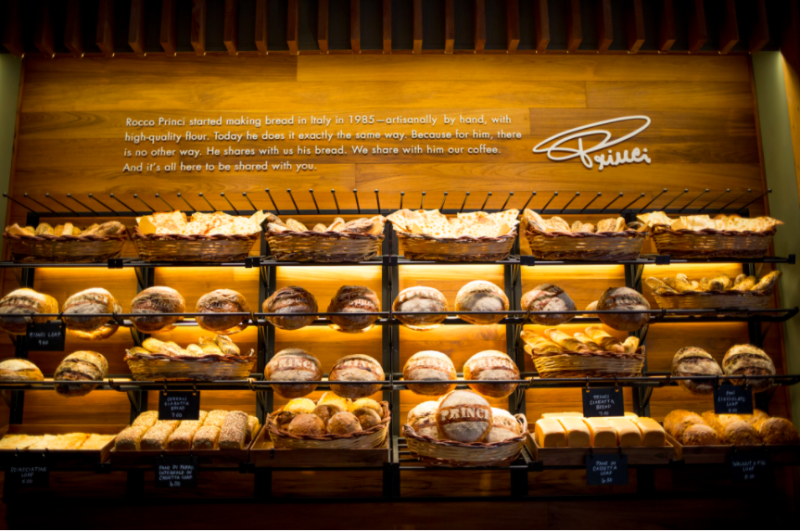 The Princi name is known in Europe for fresh-baked breads, according to Starbucks.