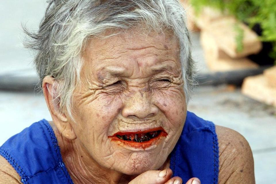 Betel nuts are consumed across Asia for their stimulating properties but they cause cancer  (AFP via Getty Images)