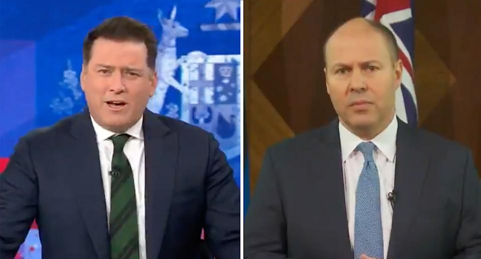 Karl Stefanovic pushed Josh Frydenberg for an apology, but was unsuccessful. Source: Today show