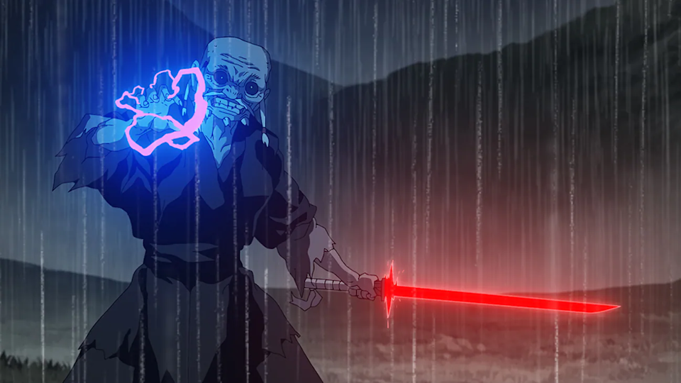 The Elder (voiced by Kenichi Ogata in Japanese and James Hong in the English dub) in & # x00201c; Star Wars: Visions & # x00201d;  - Credit: Disney