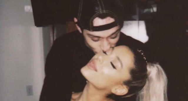 After just a few short weeks of dating, Ariana Grande and Pete Davidson are engaged. (Photo: Instagram)