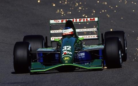 Jordan-Ford driver Michael Schumacher of Germany makes his F1 debut during the Belgian Formula One Grand Prix held in Spa, Belgium - Credit: Getty Images