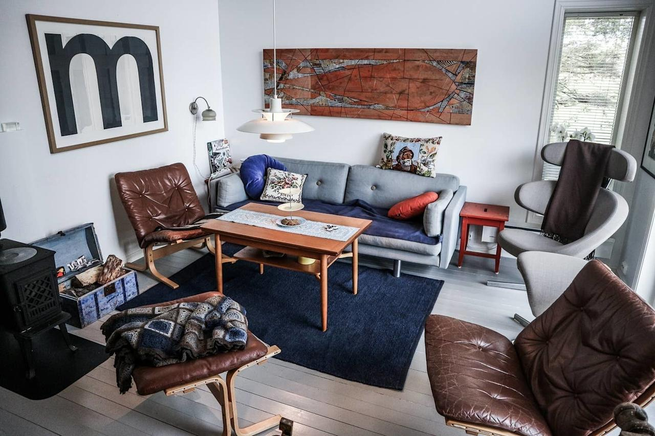 """<p>Just outside the town of Bodø, this guest suite is perfect for both solo travelers and duos, as it has a lofted bedroom with two single beds. The apartment comes with an indoor fireplace, full kitchen, and huge windows for peeping the night sky and nearby lake. We suggest renting a car and taking frequent <a href=""""https://www.cntraveler.com/galleries/2015-10-07/the-lofoten-islands-norway-answer-to-marfa?mbid=synd_yahoo_rss"""">day trips to Bodø</a> to experience the city's street art, museums, and gorgeous coastal views.</p> <p><strong>Book now:</strong> $87 per night, <a href=""""http://airbnb.pvxt.net/5QZ93"""" rel=""""nofollow"""" target=""""_blank"""">airbnb.com</a></p>"""