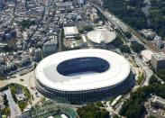 Tokyo's new National Stadium, the main venue of the Olympics and Paralympics
