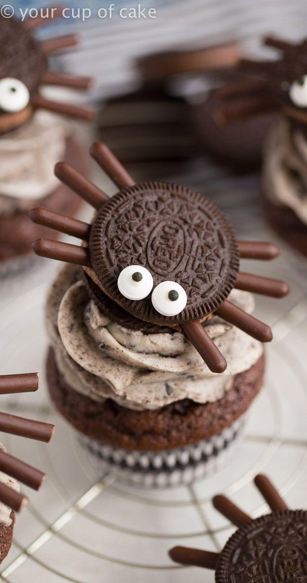 """<p>The itsy bitsy spider has never looked—or tasted—yummier. Chocolate lovers will especially love these cute cupcakes.</p><p><strong>Get the recipe at <a href=""""https://www.yourcupofcake.com/2017/10/halloween-oreo-spider-cupcakes.html"""" rel=""""nofollow noopener"""" target=""""_blank"""" data-ylk=""""slk:Your Cup of Cake"""" class=""""link rapid-noclick-resp"""">Your Cup of Cake</a>.</strong> </p>"""