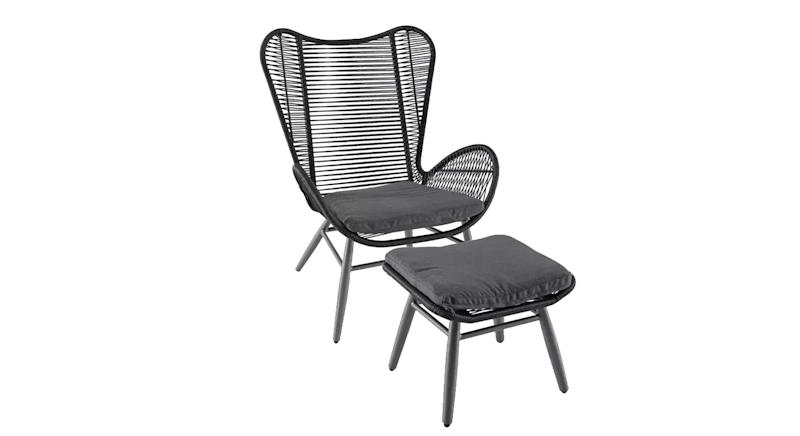 Butterfly Garden Chair and Footstool