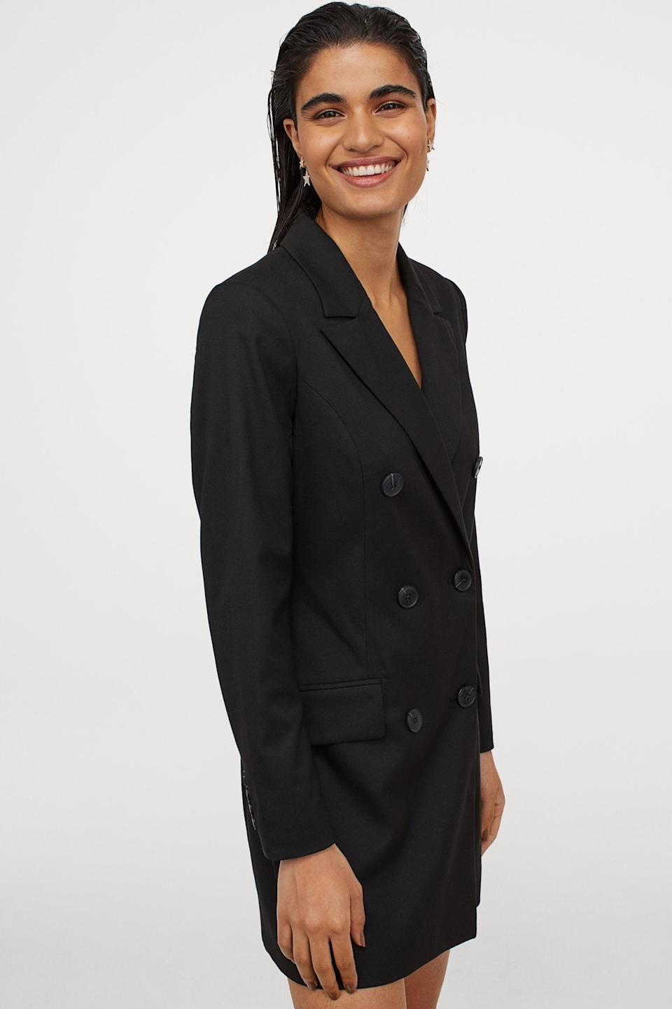 <p>This <span>Double-Breasted Jacket Dress</span> ($80) means business.</p>