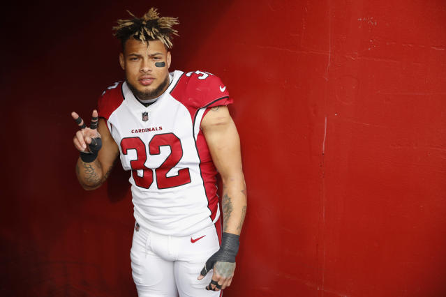 Peace out: The Arizona Cardinals released safety Tyrann Mathieu on Wednesday. (AP)