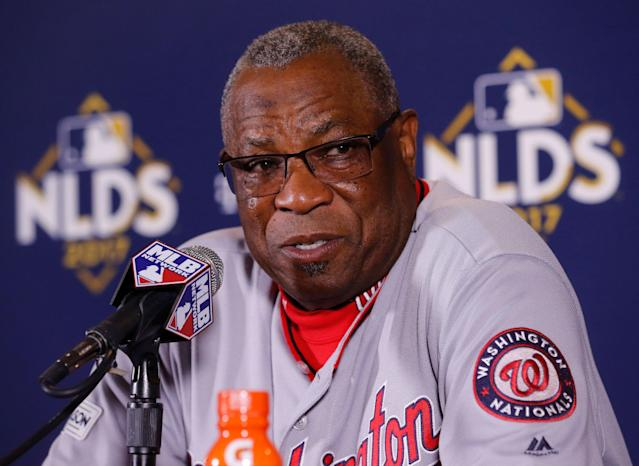 Dusty Baker sometimes wishes he was still with the Nationals. (AP Photo/Charles Rex Arbogast)