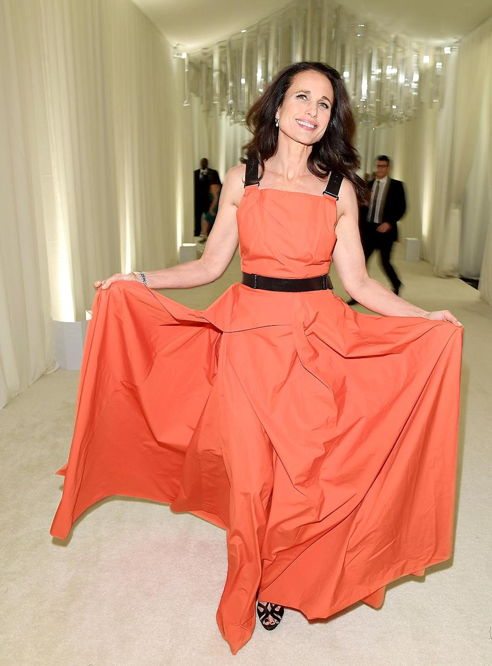 <p>Andie MacDowell attends Bulgari at the 25th Annual Elton John AIDS Foundation's Academy Awards Viewing Party at on February 26, 2017 in Los Angeles, California. (Photo by Venturelli/Getty Images for BVLGARI) </p>
