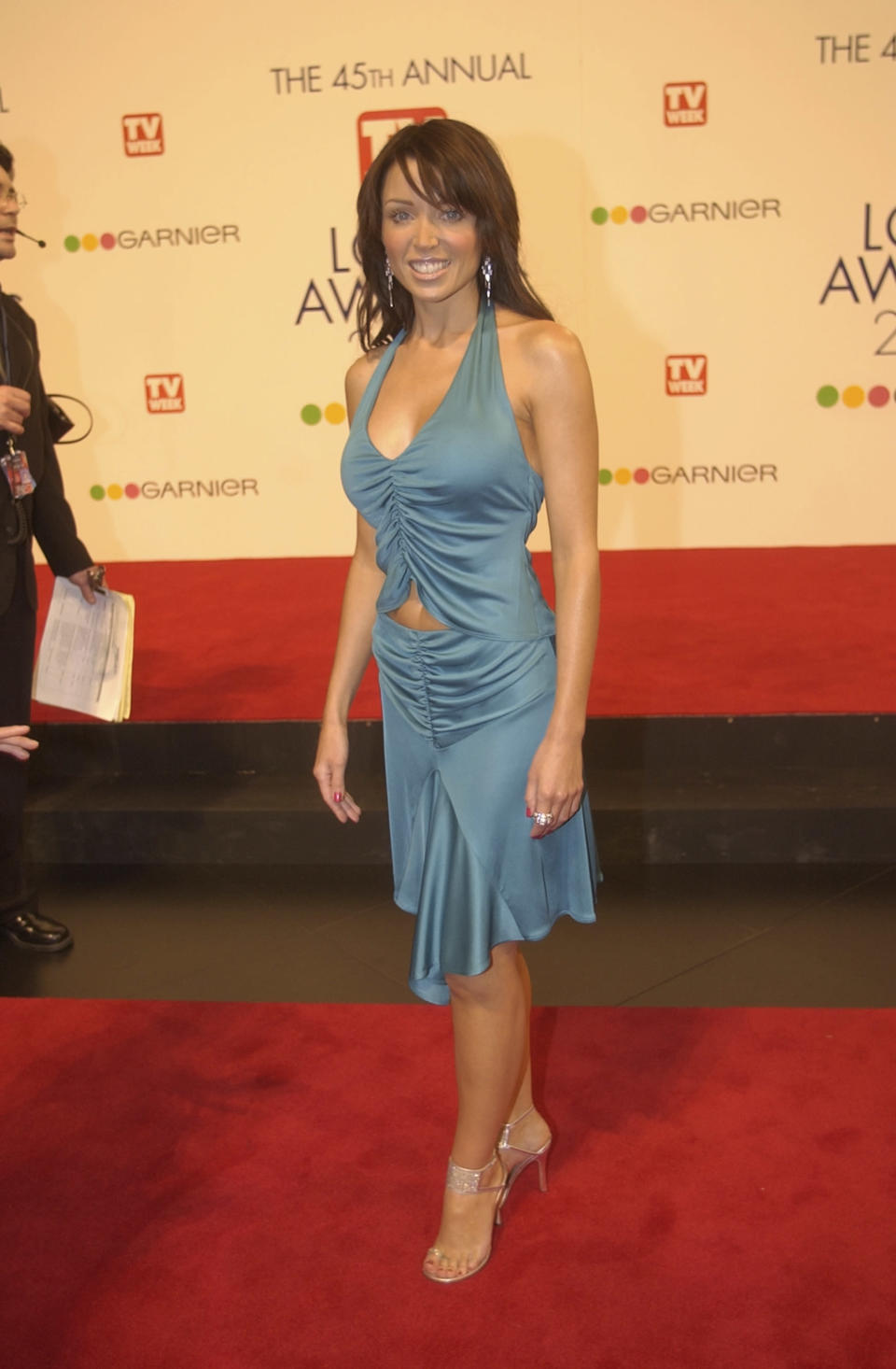 Dannii Minogue typically gets it so right on the red carpet - but in 2003 she got it so, so wrong. The TV host looked more Supre than supermodel in this ruched blue number featuring a belly-baring cut-out and bias-cut skirt. Hey, it may have been hot in the early 2000s but this outfit is most definitely best left in the past. Photo: Getty Images.