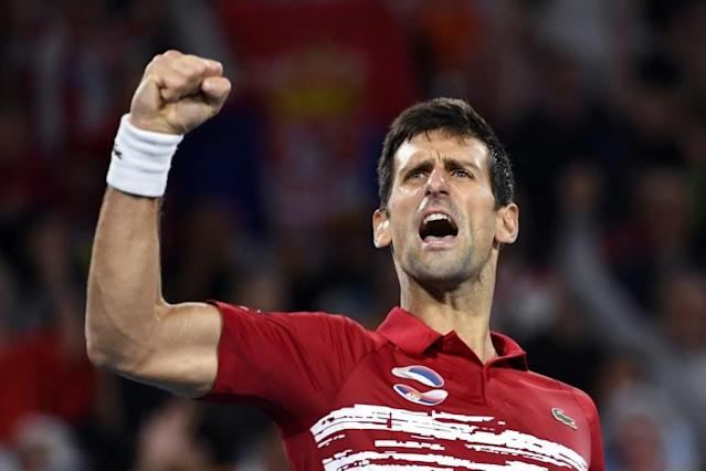 "Novak Djokovic said the win was ""one of the nicest moments"" of his career (AFP Photo/William WEST)"