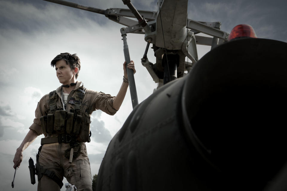 """This image released by Netflix shows Tig Notaro in a scene from """"Army of the Dead."""" (Scott Garfield/Netflix via AP)"""