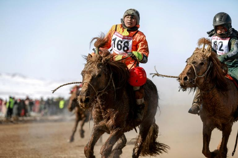 In Mongolia court bans and criticism from human rights groups are ignored as the practice of using child jockeys in horse races persists