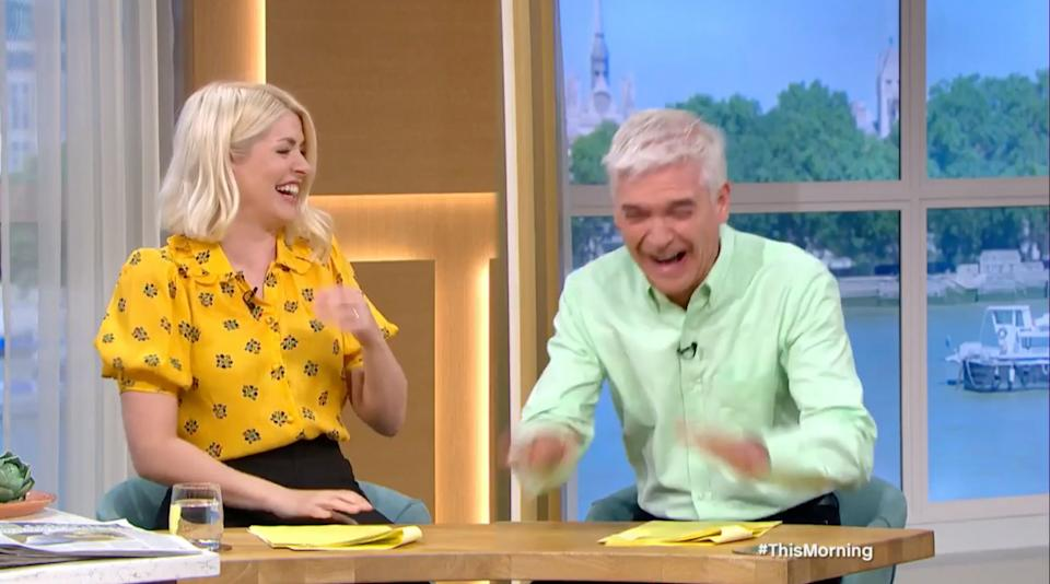 Phillip Schofield couldn't get over Holly's confusion (Photo: ITV)