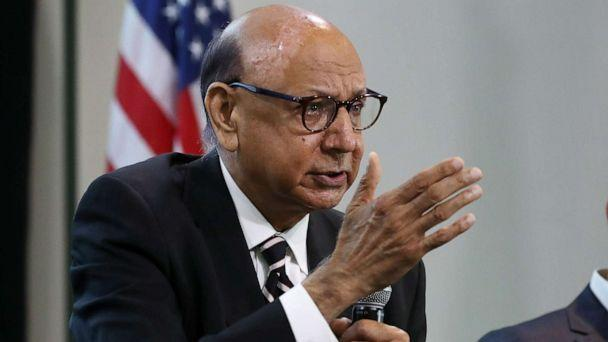 PHOTO: Gold Star father Khizr Khan speaks while participating in a panel discussion with Dr. Abdul El Sayed during the Muslim Collective For Equitable Democracy Conference and Presidential Forum, July 23, 2019, in Washington. (Chip Somodevilla/Getty Images)