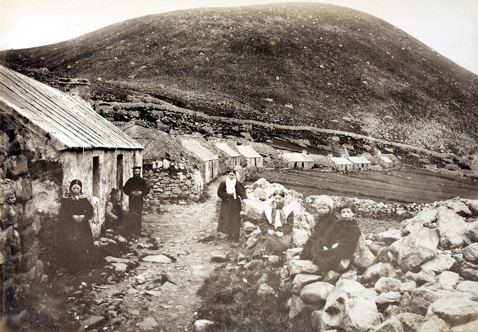 A picture on the island from around 150 years ago when it was inhabited. (SWNS)