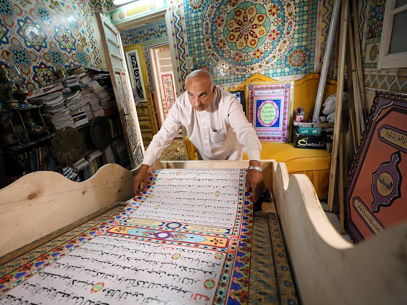 Saad Mohammed at his studio in Belqina, Egypt: Reuters
