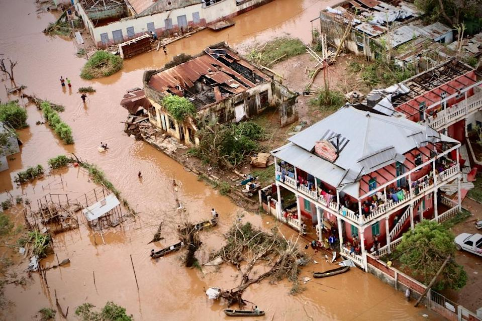 The town of Buzi in central Mozambique was among the victims of huge floods caused by Cyclone Idai last month (AFP Photo/Adrien BARBIER)