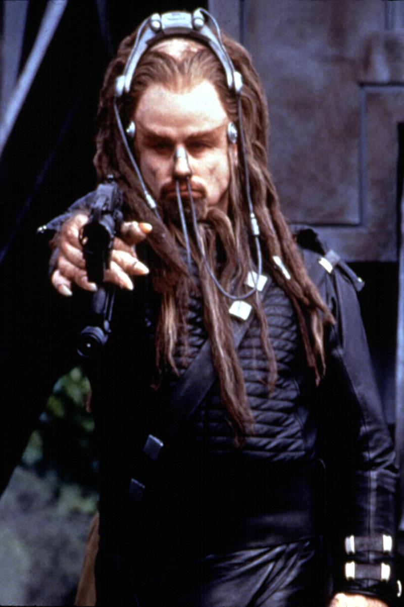 In <i>Battlefield Earth</i>, John Travolta had hair for days. (Photo: Everett Collection)
