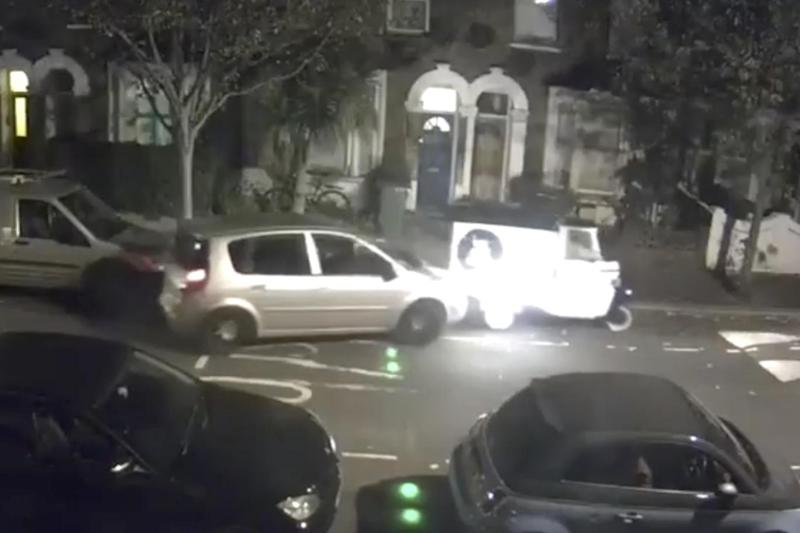 The thieves shunted the tuk-tuk through the streets of east London (Lucy Young)